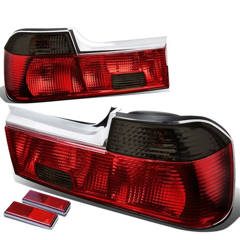 broken tail light cover illegal bmw e32 7 series pair of smoked lens red rear brake signal