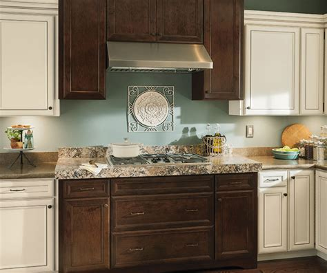 contrasting kitchen cabinets rustic kitchen with contrasting finishes aristokraft