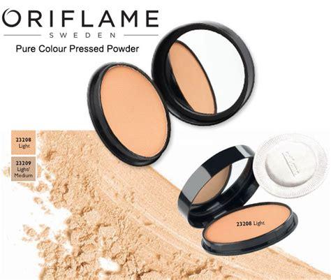 Bedak Oriflame review colour pressed powder asia moeslema