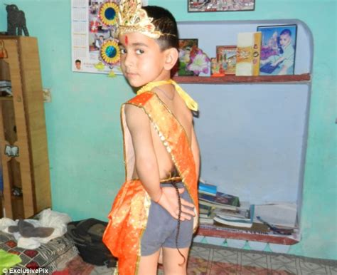 boy blog indian boy with a tail worshipped as a monkey like god
