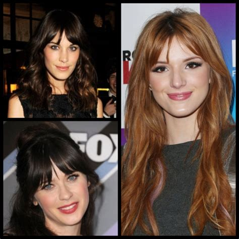 centre parting bangs hairstyles with bangs 2014