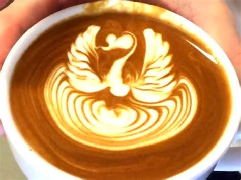 Latte Art Pattern Names | ikecci s latte art quot swan quot ラテアート 2015 10 youtube