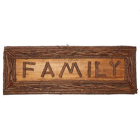 twig home decor natural twig quot family quot sign wall decor home decor