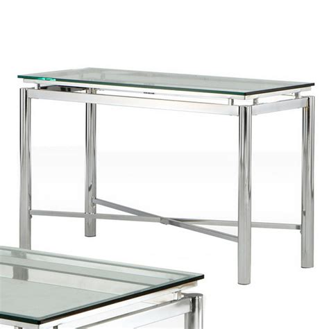 silver sofa table shop steve silver company nova metal rectangular console
