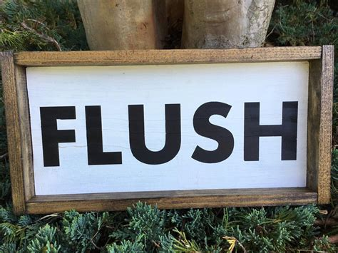 custom home decor signs bathroom flush sign custom home decor farmhouse style