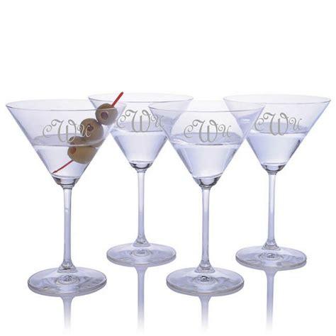 vintage martini glasses engraved waterford vintage large martini glass set of 2