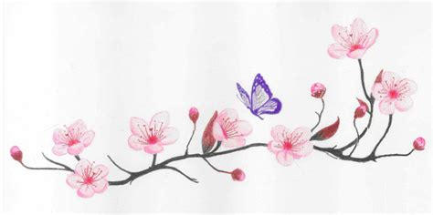 cherry blossom and butterfy 2 by fanta fanta fanta on