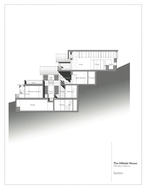 slope house plans gallery of hillside house sb architects 20
