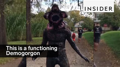 guy   functioning demogorgon costume youtube