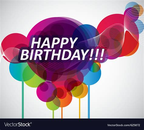 colorful happy birthday banner royalty free vector image