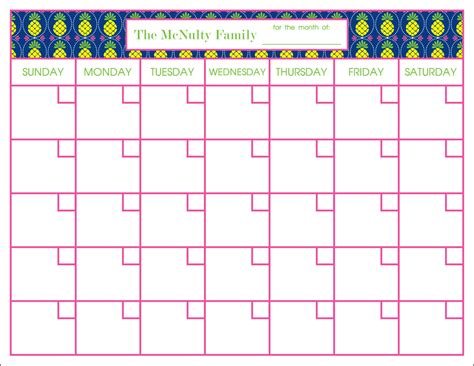 Chore Calendar Template Monthly Donovan Designs Personalized Weekly Planner Pad Chore
