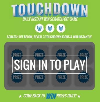 Free Instant Win - kroger touchdown instant win game oh yes it s free