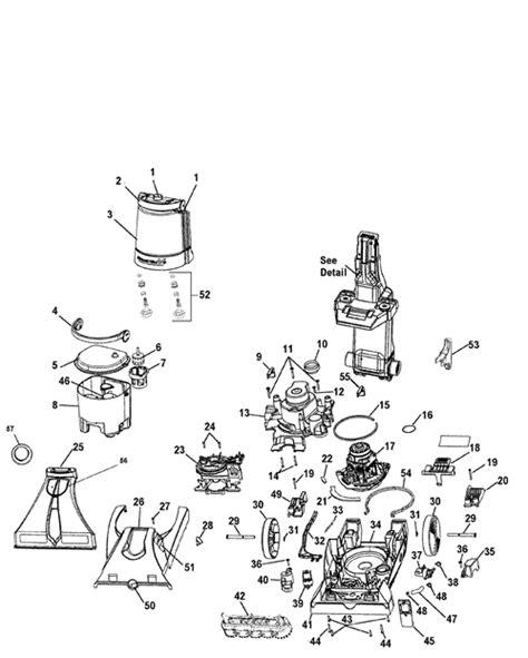 hoover carpet cleaner parts diagram hoover f7221 steamvac dual v cleaner parts