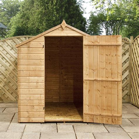 Shiplap Roof by 8x6 Shiplap T G Budget Wooden Garden Shed Single Door Roof