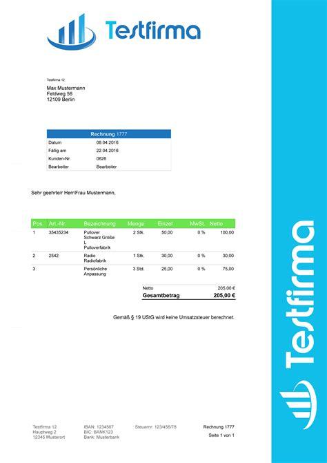 Design Vorlagen Ebay Rechnungsprogramm F 252 R Unternehmer Und Kleinunternehmer