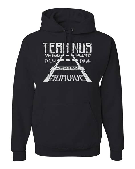 Hoodie The Dealdo Merch terminus those who arrive survive the walking dead tv show merch hoodies ebay