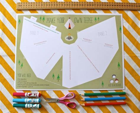 How To Make A Teepee Out Of Paper - single make your own teepee tipi tepee paper teepee