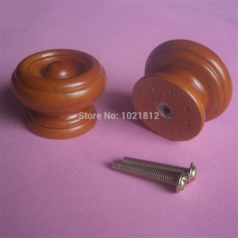 20pcs 39mm wooden cabinet knobs handles pulls cupboard