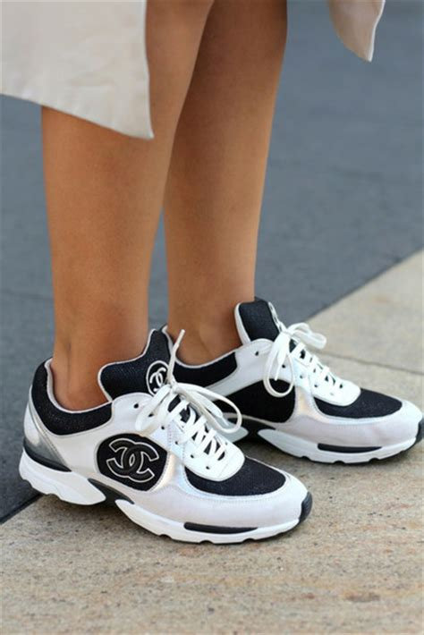 white chanel sneakers shoes white and black sneakers chanel shoes wheretoget