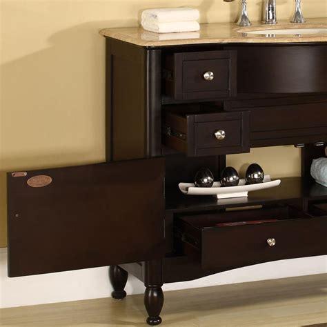 silkroad exclusive traditional  single sink bathroom vanity travertine top hyp   uic