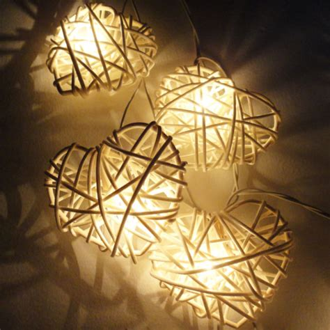 rattan string lights rattan string lights white