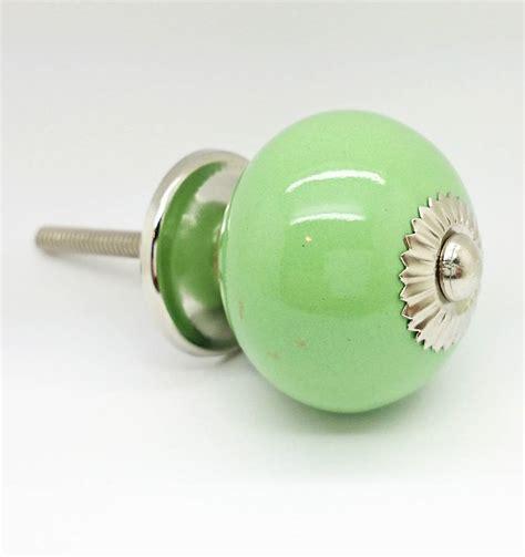 Door Knobs Green Light Green Ceramic Door Knobs Cupboard Drawer Handles By