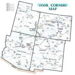Four Corners States Map four corners
