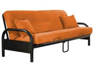 solid orange futon cover the futon shop