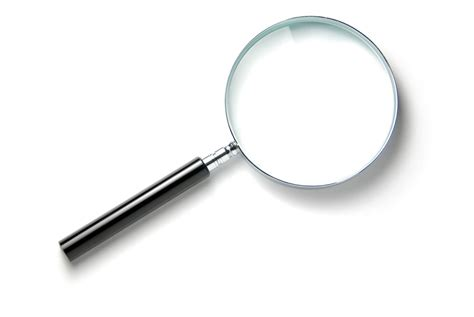 Magnifying Glass pin detective with magnifying glass on