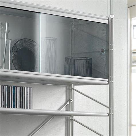 scaffale componibile mikkel scaffale componibile da parete in acciaio bianco