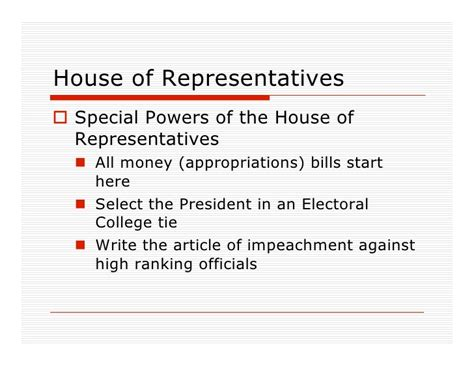 How Are Members Of The House Of Representatives Elected by Congress Powerpoint