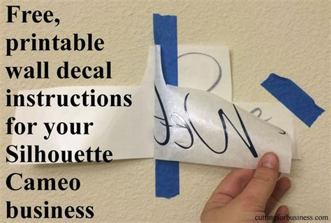 printable vinyl application instructions 611 best images about silhouette cameo ideas on pinterest