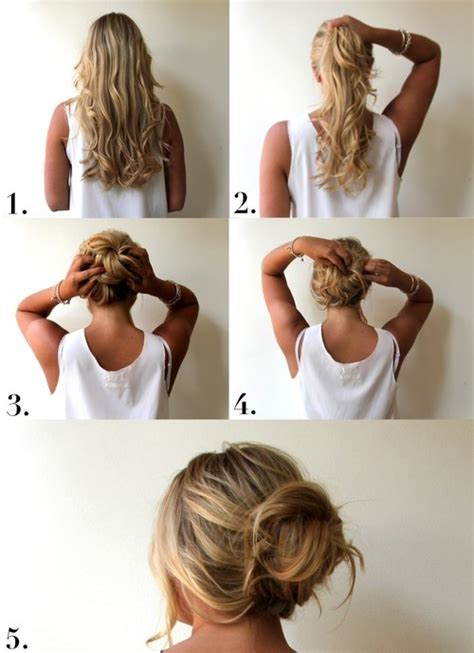 how to do easy hairstyles step by step easy updo hairstyles for hair step by step all hair