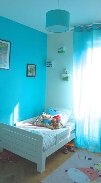 chambre enfant bleu chambre bleue lagon