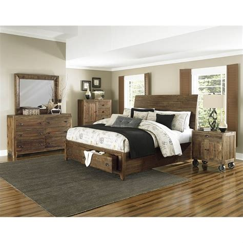 magnussen bedroom set magnussen river ridge 6 piece bedroom set in natural
