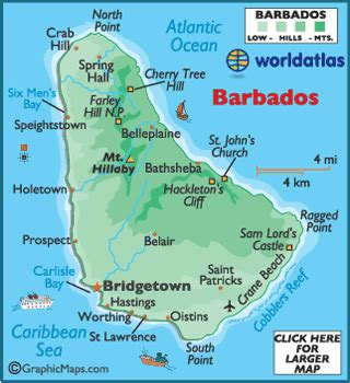 where is barbados on world map bridgetown barbados photos worldatlas