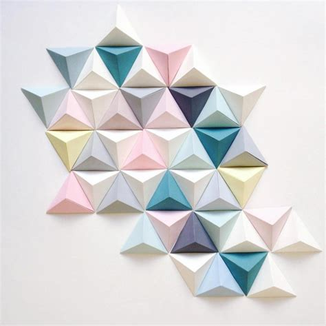 Decoration Origami by D 233 Coration Fresque Origami Triangle For Me Lab