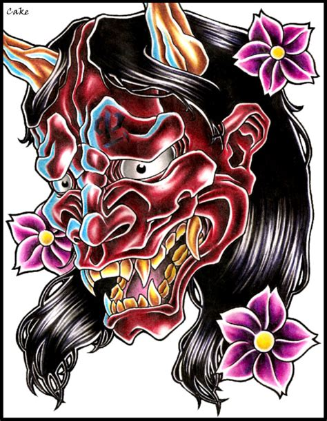hannya mask tattoo design hannya mask design by cakekaiser on deviantart