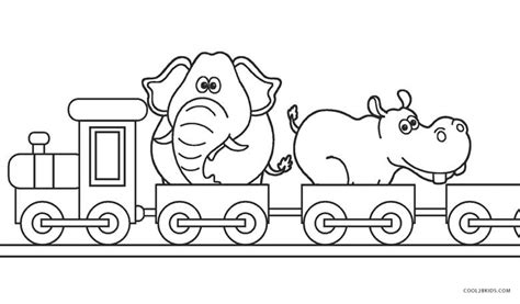 animal train coloring page free printable train coloring pages for kids cool2bkids