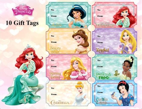 printable disney princess christmas tags disney princess gift tags disney printables princess