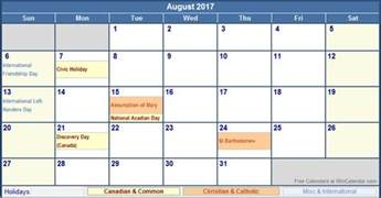 august 2017 calendar with holidays weekly calendar template