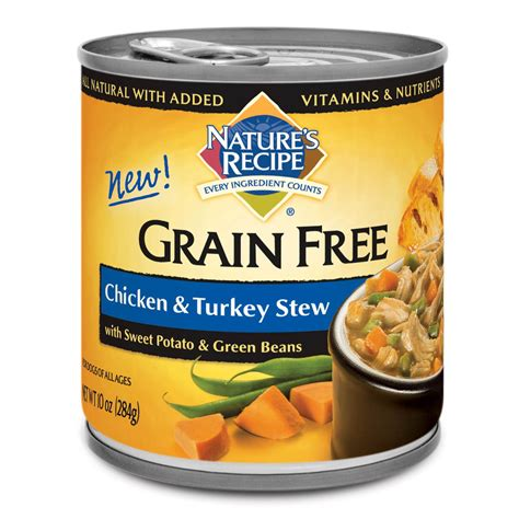 nature s recipe food nature s recipe grain free chicken turkey stew canned food petco