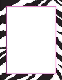 printable zebra border paper free printable zebra paper borders seivo clipart