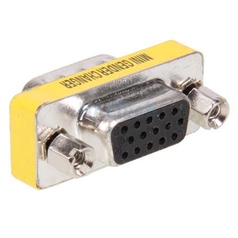 Murah Gender Vga F Vga F new 4x 15 pin hd svga vga gender adapter changer to f m coupler ebay