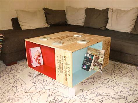Table Avec Caisse De Vin by Table Basse Fait Avec Caisses De Vin Et Pieds Compas
