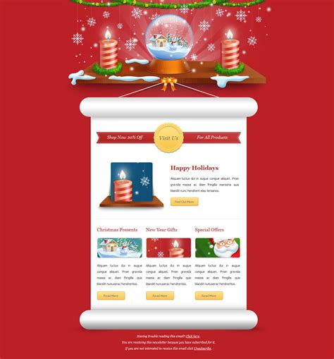 Exclusive New Year Newsletter By Themewish Themeforest Happy New Year Email Template