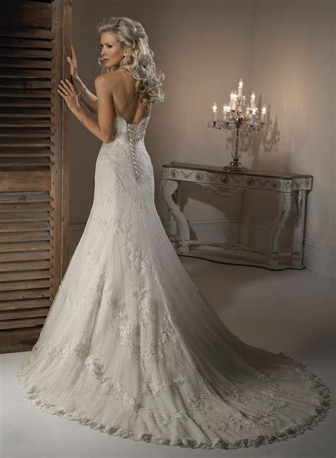 strapless a line beaded bridal gown pictures photos and