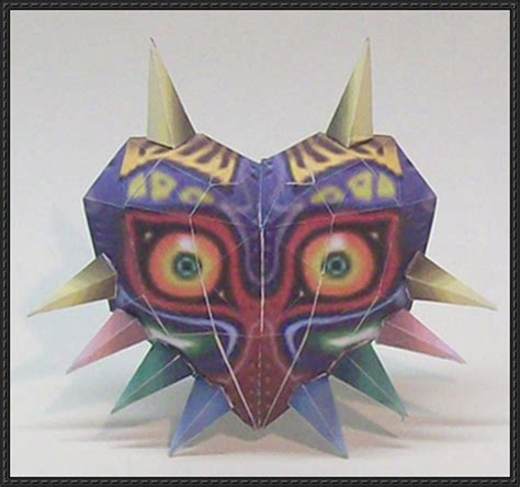 Paper Craft Mask - the legend of majora s mask papercraft free