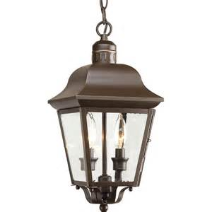 shop progress lighting andover 15 87 in antique bronze - Outdoor Pendant Light