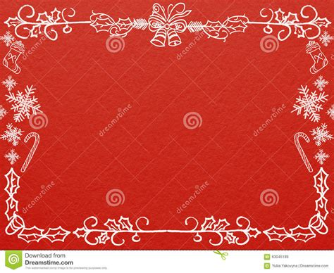 frame  christmas   year greeting card  red
